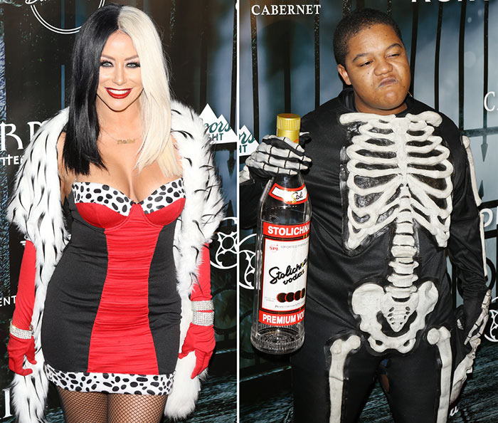 Celebrity Halloween Costumes 2015: Aubrey O'Day & Kyle Massey