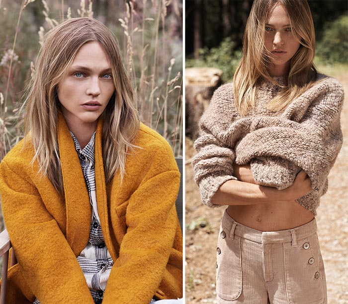 Sasha Pivovarova for Mango's Natural State Fall 2015 Lookbook