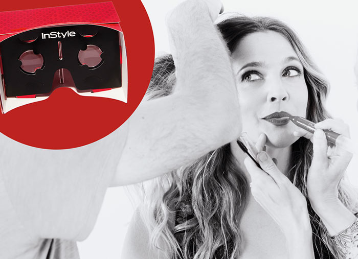 Drew Barrymore for InStyle Virtual Reality Launch