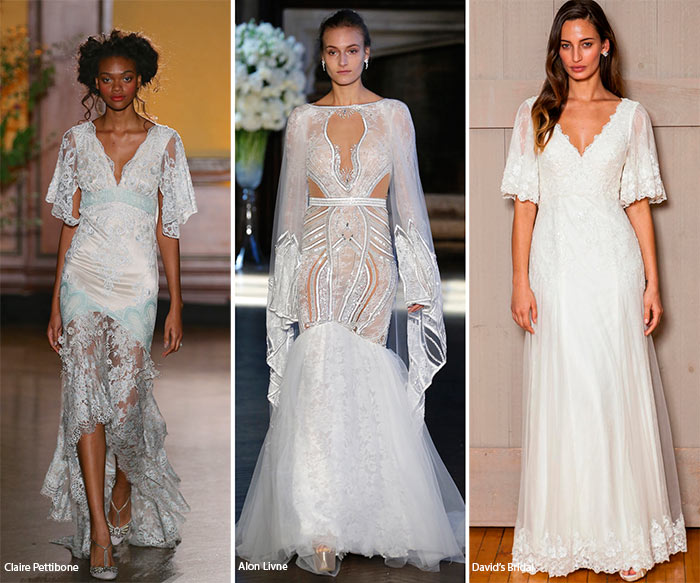 Fall 2016 Bridal Trends: Wedding Dresses with Fluttery Sleeves