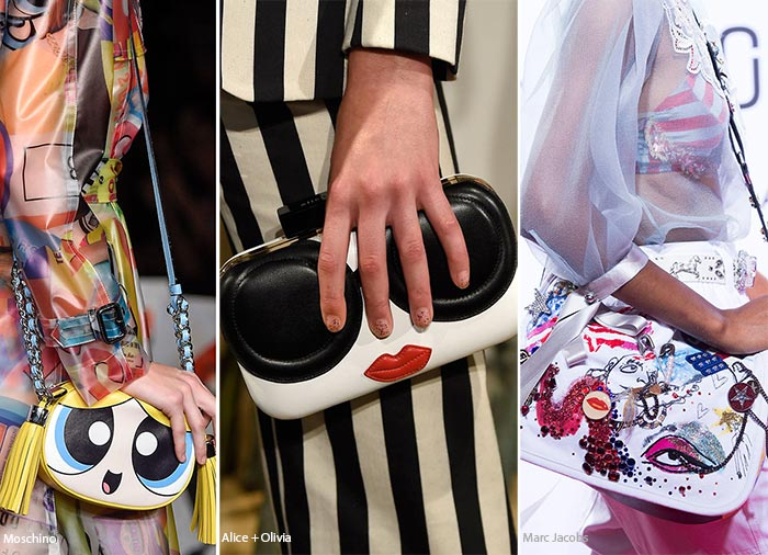 Spring/ Summer 2016 Handbag Trends: Face Shaped Bags