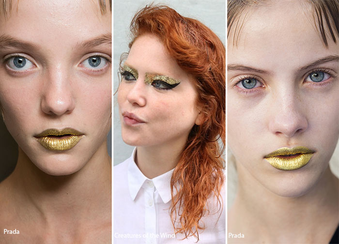 Spring/ Summer 2016 Makeup Trends: Gold Makeup Accents
