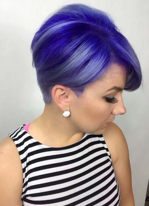 Short Hairstyles for Women: Blue Boycut