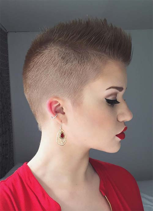 Short Hairstyles for Women: Mohawk Buzz Cut
