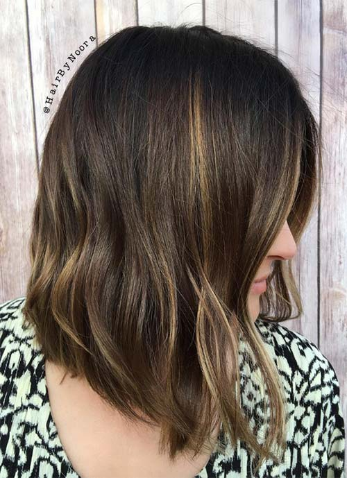 Short Hairstyles for Women: Ombre Lob