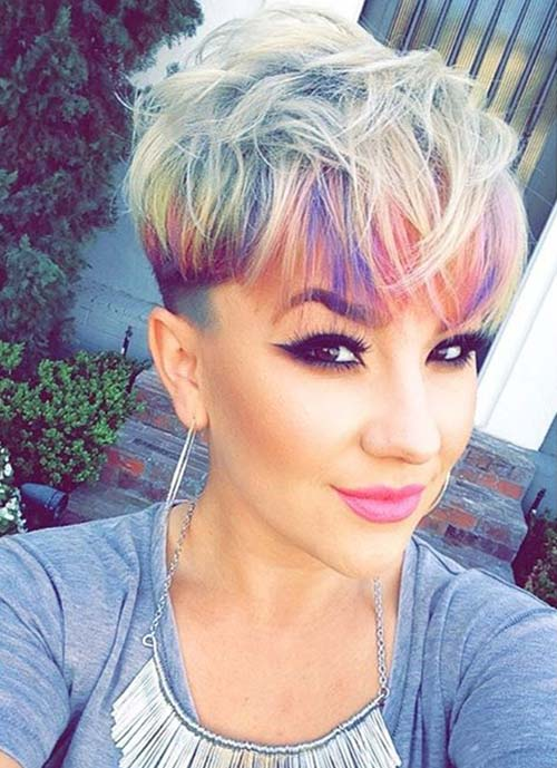 Short Hairstyles for Women: Rainbow Pixie