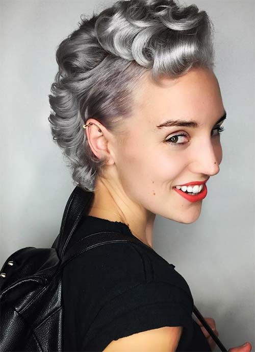 Short Hairstyles for Women: Silver Monroe Pixie