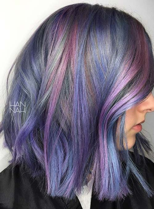 Pastel and Neon Hair Colors in Balayage and Ombre: Lavender Balayage Hair