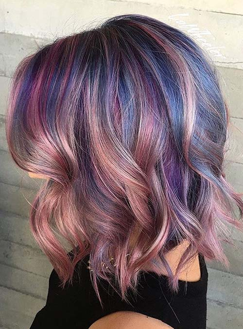Pastel and Neon Hair Colors in Balayage and Ombre: Pink Balayage Hair