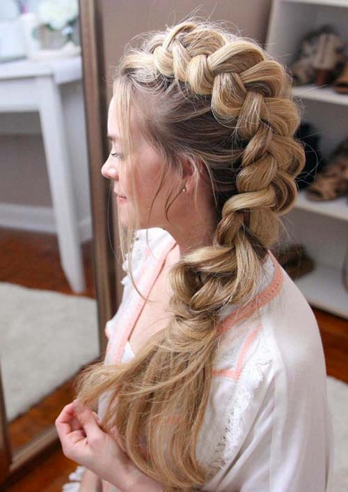 100 Trendy Long Hairstyles for Women: Mohawk Braid