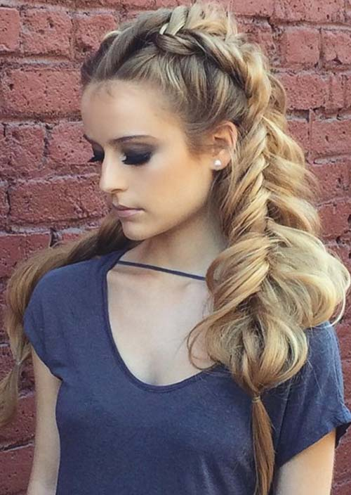 100 Trendy Long Hairstyles for Women: Loose Chunky Double Braids