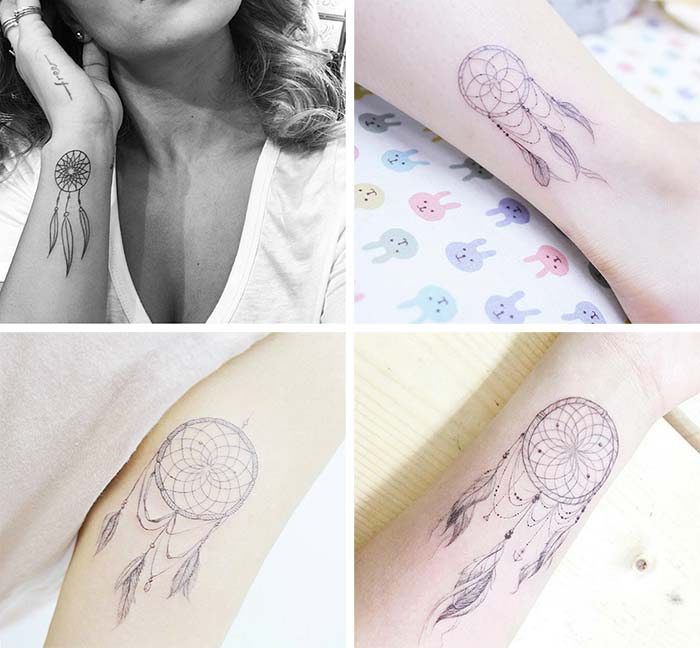 Cute Small Tattoos For Girls With Their Meanings: Tiny Dreamcatcher Tattoos