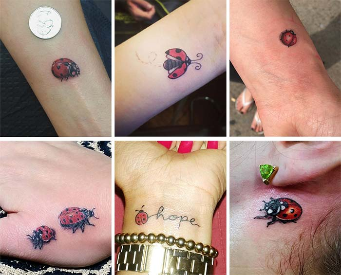 Cute Small Tattoos For Girls With Their Meanings: Tiny Ladybug Tattoos
