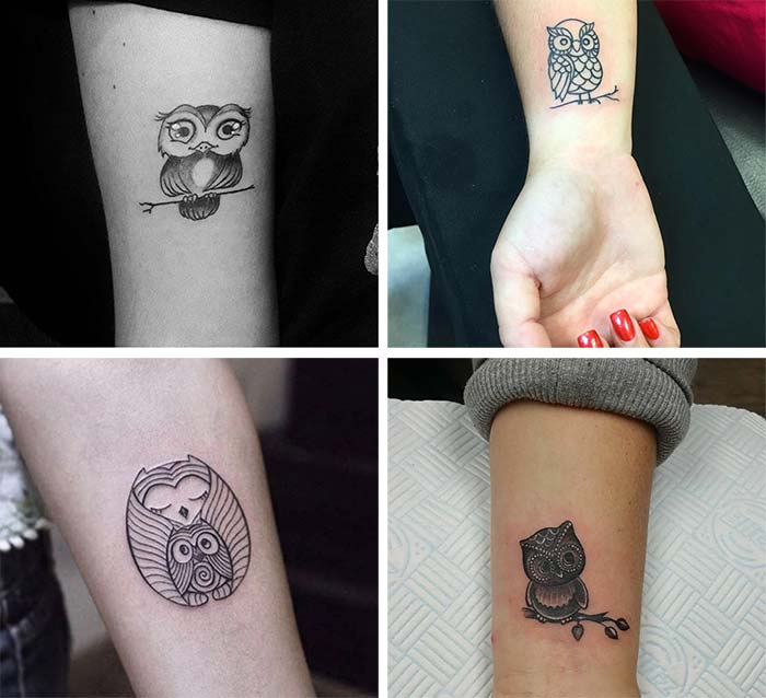 Cute Small Tattoos For Girls With Their Meanings: Tiny Owl Tattoos