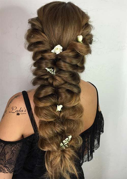 100 Ridiculously Awesome Braided Hairstyles: Y-Shaped Pancake Braids