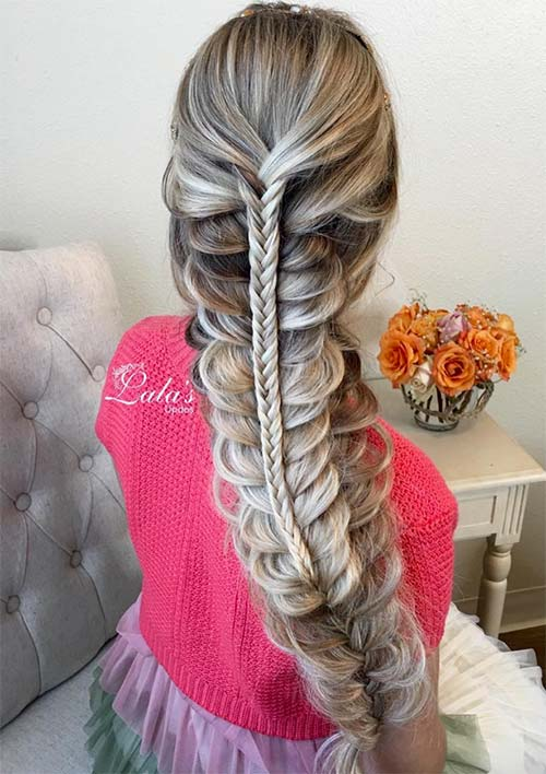 100 Ridiculously Awesome Braided Hairstyles: Triple Stacked Braids