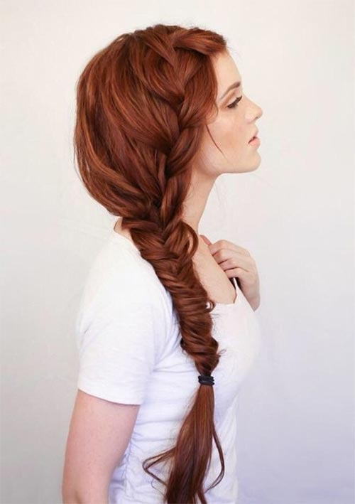100 Ridiculously Awesome Braided Hairstyles: Long Side Braid