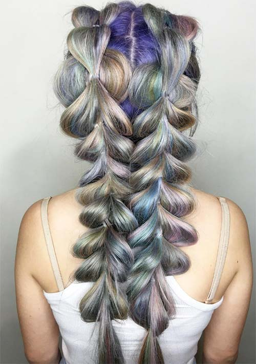 100 Ridiculously Awesome Braided Hairstyles: Looped Through Braids