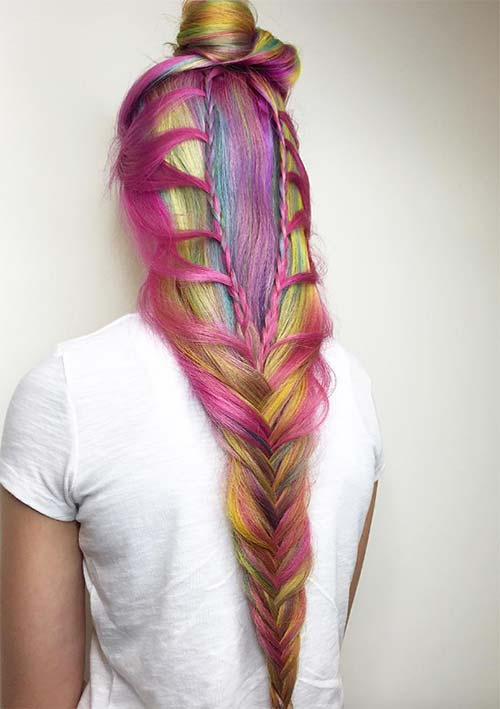 100 Ridiculously Awesome Braided Hairstyles: Cascading Dutch Fishtail Braids