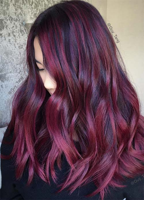 Dark Hair Colors: Deep Red/ Auburn Hair Colors