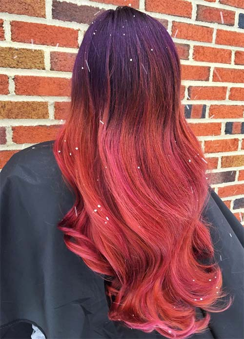 Dark Hair Colors: Deep Rose Hair Colors