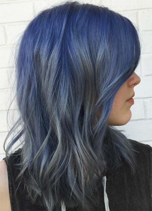 Blue Denim Hair Colors: Smoke in the Water Color Melt