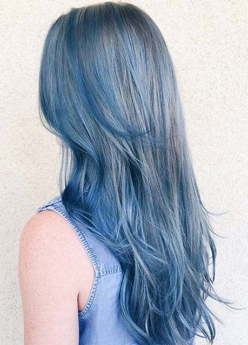 Makeup Tips for Denim Blue Hair