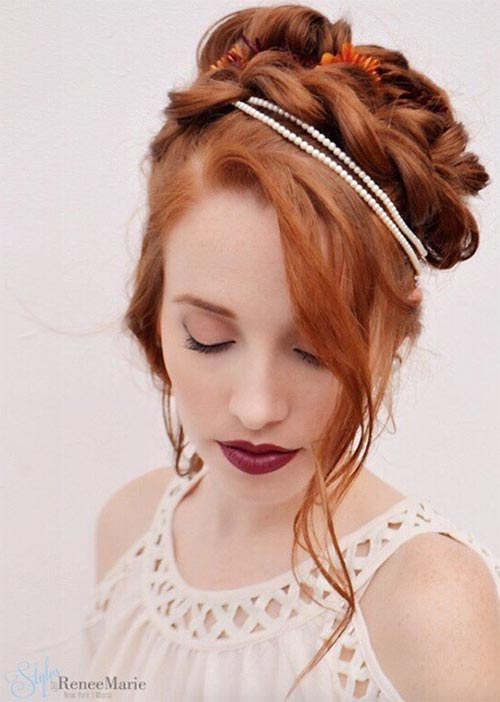Pretty Holiday Hairstyles Ideas: Flapper Braided Updo