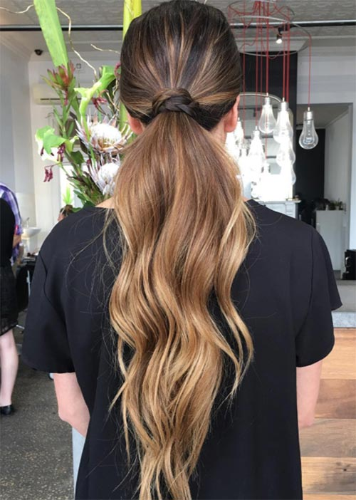 Pretty Holiday Hairstyles Ideas: High-Low Ponytail