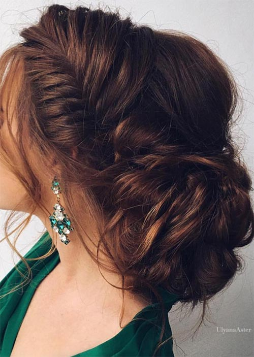 Pretty Holiday Hairstyles Ideas: Loose Braided Updo