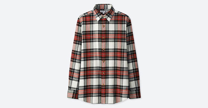 J.W. x Uniqlo Collaboration plaid shirt
