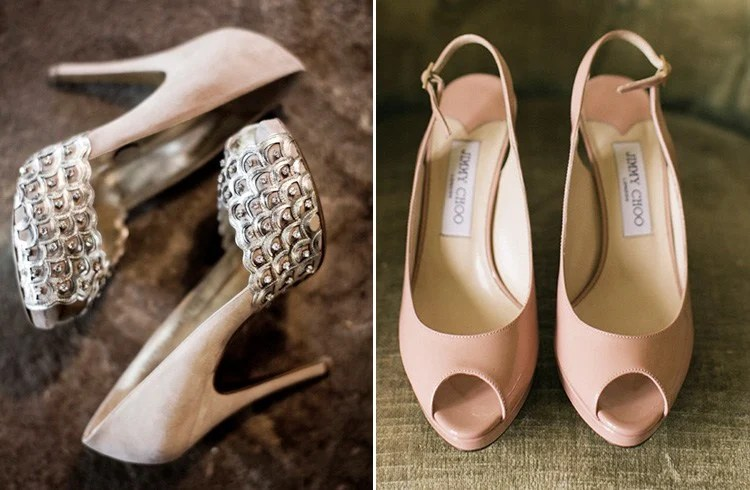 Silver Wedge Bridal Shoes