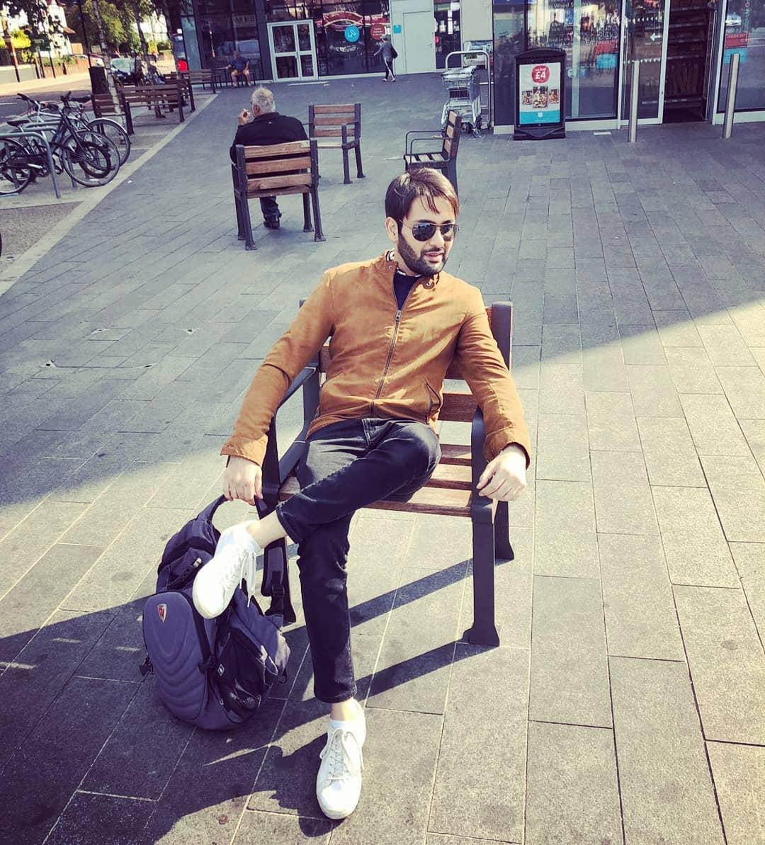Latest Clicks Of Affan Waheed In London Pakistani Drama