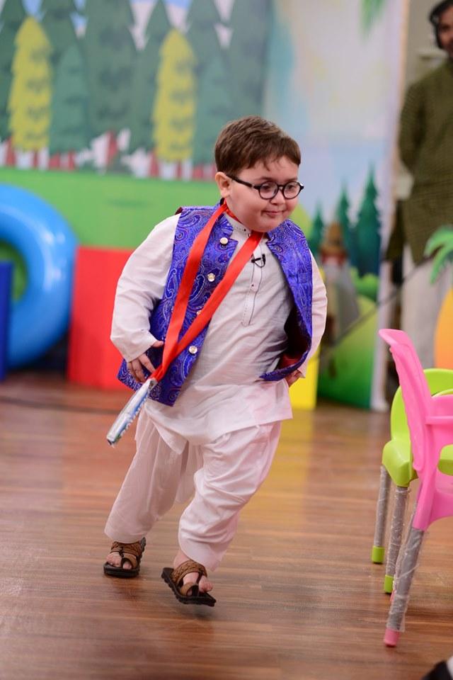 Cute Kid Ahmed Shah In Nida Yasir Morning Show Pakistani