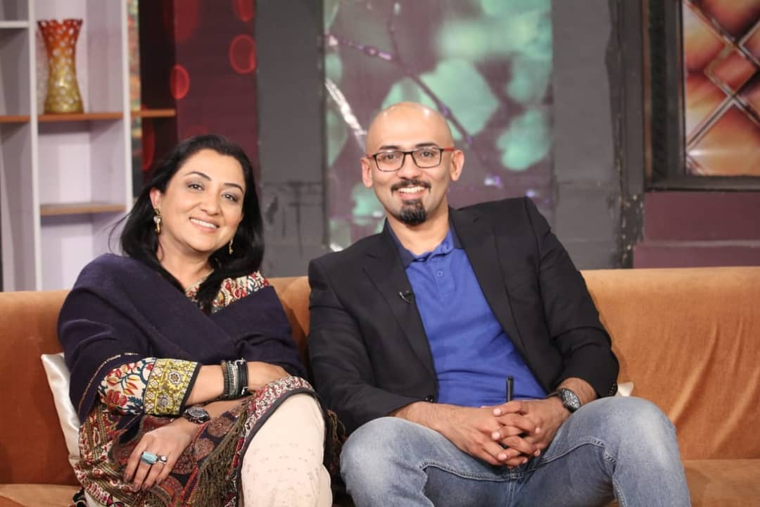 Beautiful Pictures Of Actress Nadia Afgan With Her Husband
