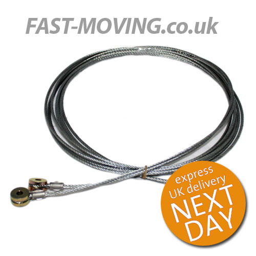 Dry Freight Roll Up Shutter Door Cable Galvanised Pair