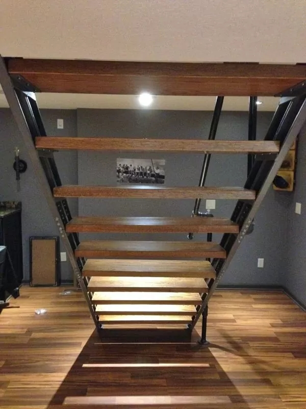 Basement Stair Stringers By Fast Stairs Com | Cost To Build Stairs To Basement | Spiral Staircase | Deck | Risers | Doors | Stair Treads