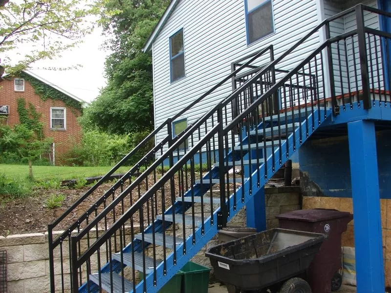 Outdoor Stair Stringers By Fast Stairs Com   Premade Stairs For Outdoors