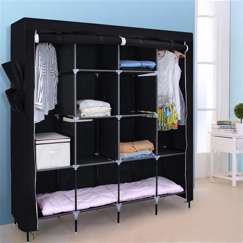 Portable Bedroom Wardrobe Clothes Storage Closet
