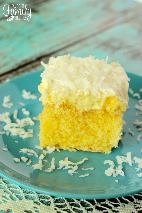 Easy Hawaiian Wedding Cake Recipe   Favorite Family Recipes Hawaiian Wedding Cake with Coconut Topping