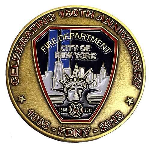 Fdny 150th Anniversary Challenge Coin Fdny Shop