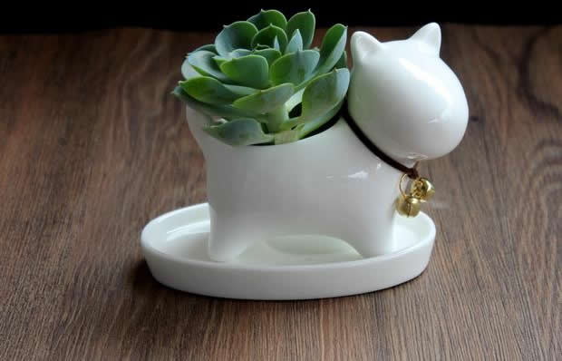Dog Ceramic Succulent Planter Flower Pot Feelgift