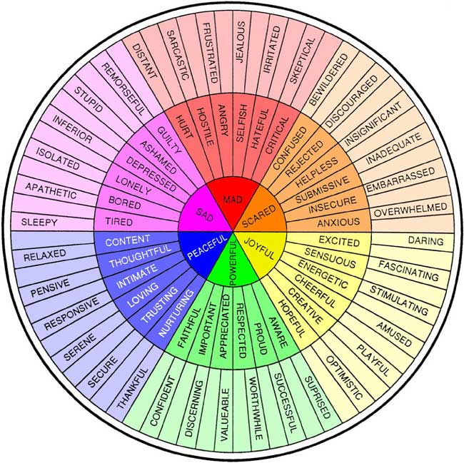Feelings Wheel Emotions