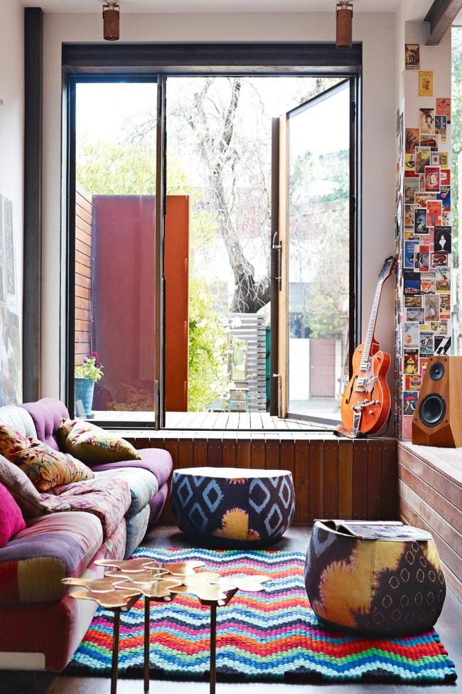 Urban Family Room Decor