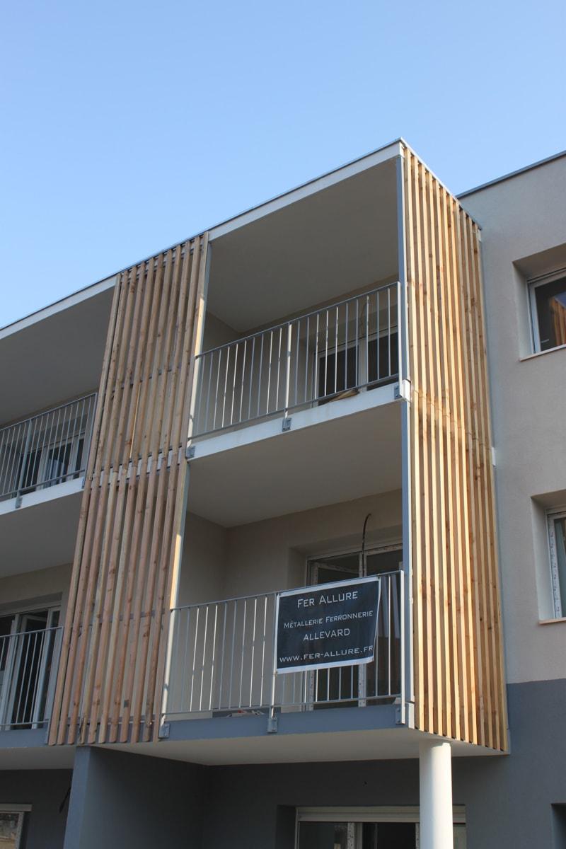 Terrasse M 233 Tal Et Bois Brise Vue Claustra Design