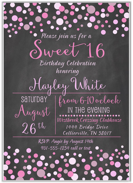 Pink And Gold Wedding Shower Invitations
