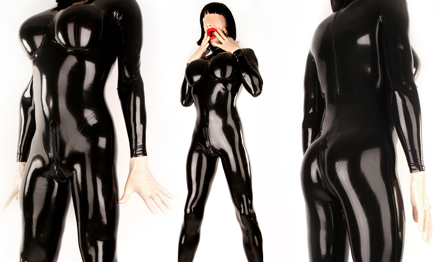 Big Boobs Rubberdoll Latex Catsuit