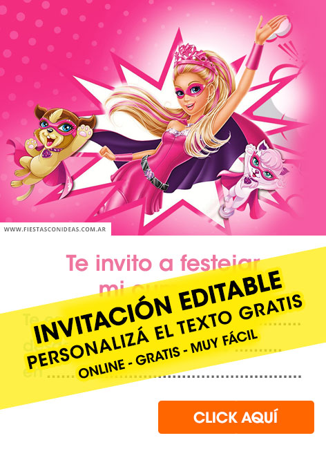 20 Free Barbie Birthday Invitations For Edit Customize