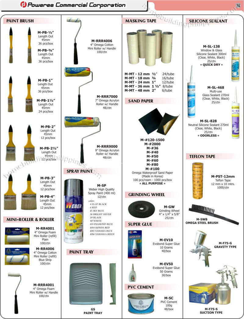Construction Price List Materials Philippines