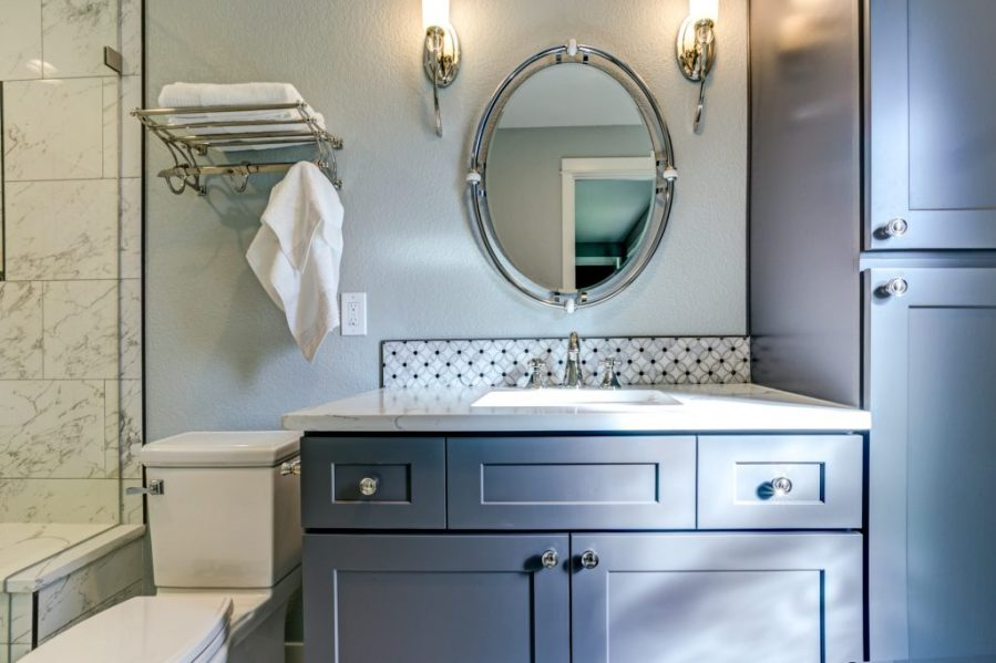 findyello   Design 101  Remodelling a Bathroom on a Budget     the look of your bathroom is to change the vanity  When choosing a new  vanity think about how you can use it to increase storage in the bathroom